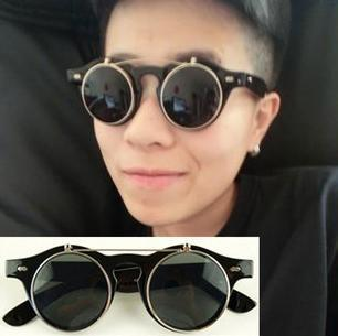 sunglasses for men offer  Aliexpress.com : Buy Retro Double Flip Round Metal Box Hippie ...
