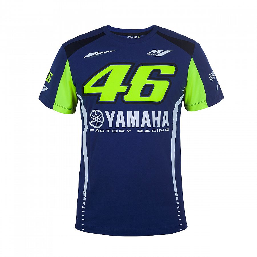 New Arrival ! 2017 Valentino Rossi VR46 Moto GP T shirt for Yamaha Racing Blue Men Tee