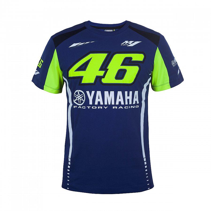 Nuovo Arrivo! 2017 Valentino Rossi VR46 Moto GP T-Shirt per Yamaha Racing Blu Uomini Tee