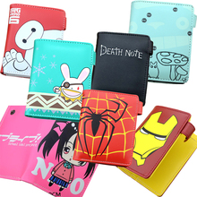 E-Mell Death Note Love live One piece Kantai Collection Haikyuu Genji Date A Live Reaper Two Folded Purse Short Wallet