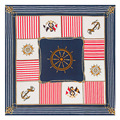 60cm * 60cm twill silk classic sailing hook lady silk scarf small square