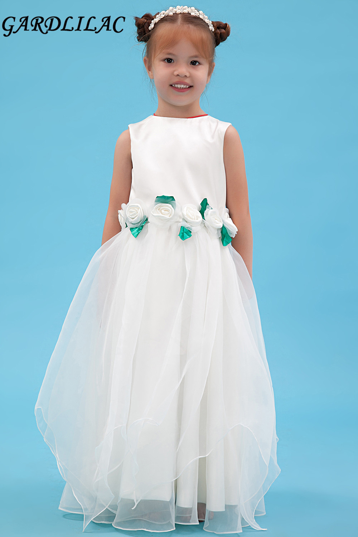 2017 White Pretty Flower Girl Dresses For Weddings Ball Gown Holy