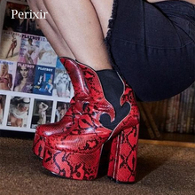 2020 New Sexy Ultra High Heels Shoes Woman Female Round Toe Martin Boots Thick Heel Platform Serpentine Women Shoes Ankle Boots new arrival fashion 2017 high heel boots female platform high boots shoes black round head antislip women ankle martin boot shoe