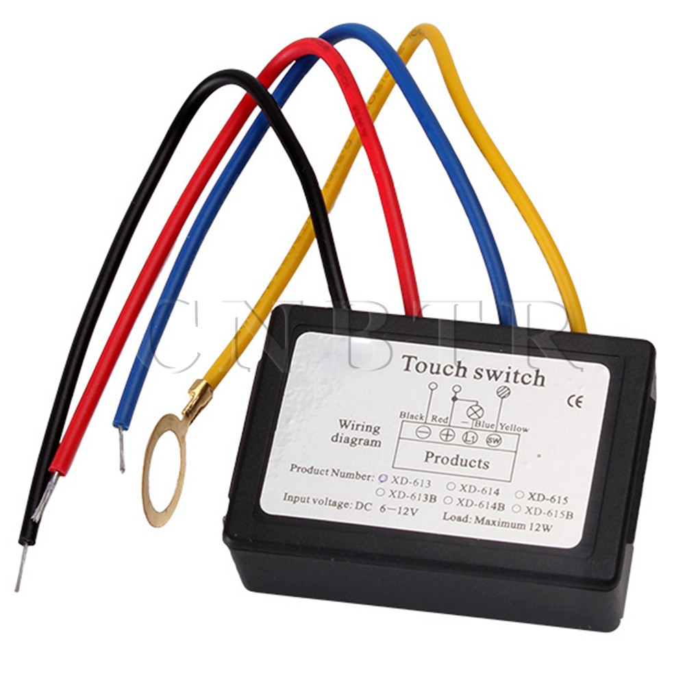 Aliexpress com buy cnbtr xd 613 on off touch switch 6 12v dc for on wiring diagram for a touch lamp Wiring-Diagram Electric Oil Lamp Touch Light Control Wiring Diagram