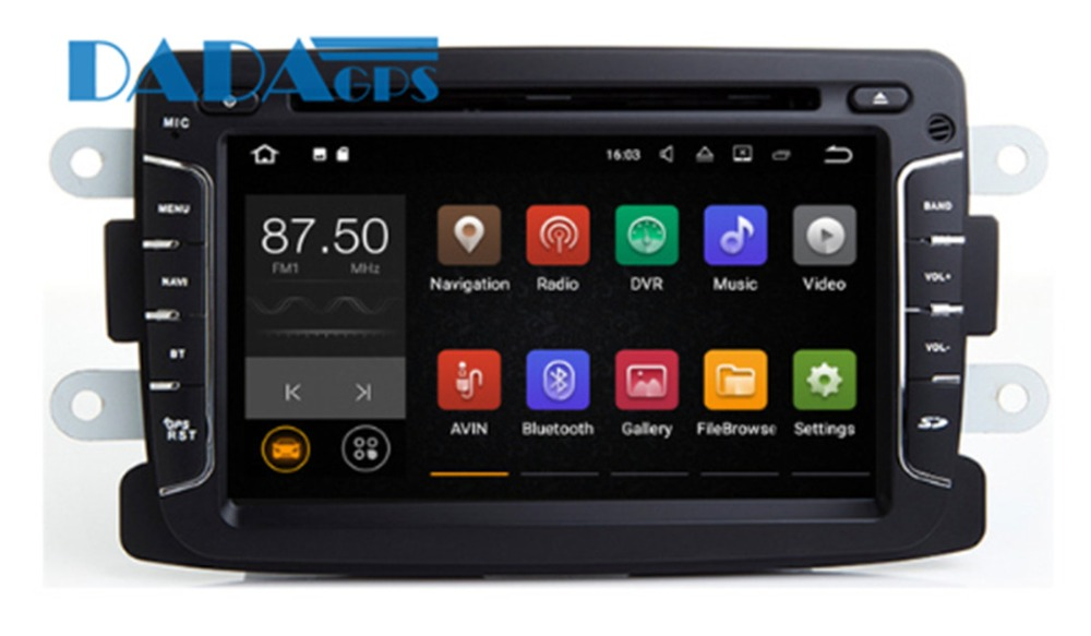 Newest Android Car Radio DVD Player GPS Navigation Stereo Unit for Dacia Sandero Duster Renault Captur Lada Xray 2 Logan 2 Video image
