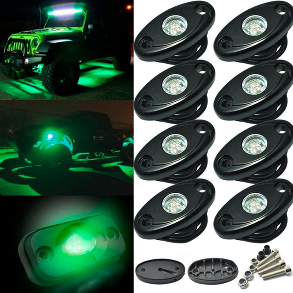 Car Styling With CREE Chips RGB LED Rock Lights LED Kit Bluetooth Cell Phone Control Grad