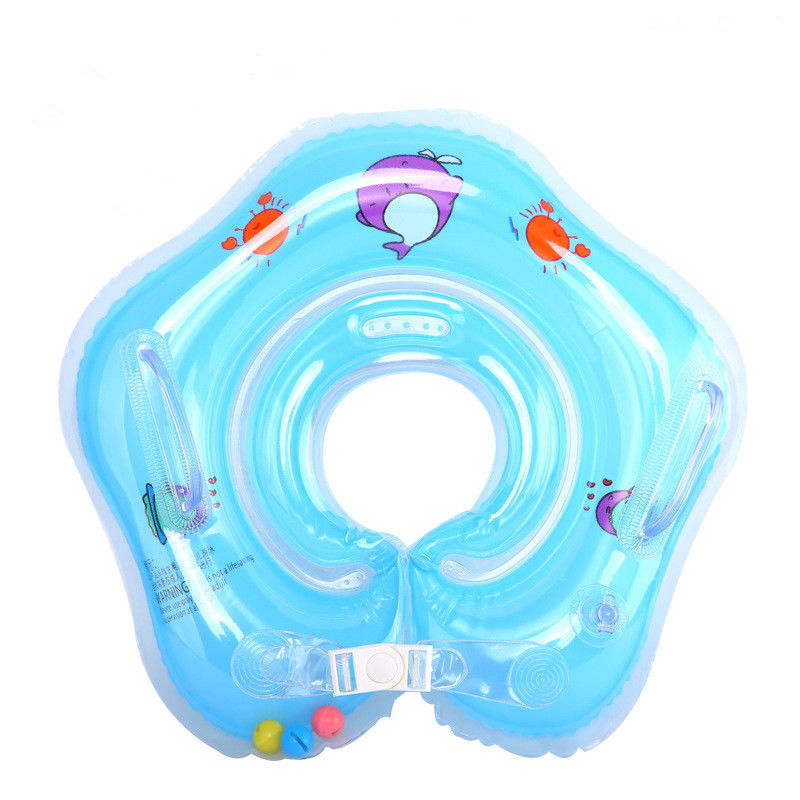 Baby Kids Infant Lifebuoy Swimming Neck Float Inflatable Tube Ring Safety Child Safety Floating PVC Inflatable Pool Float