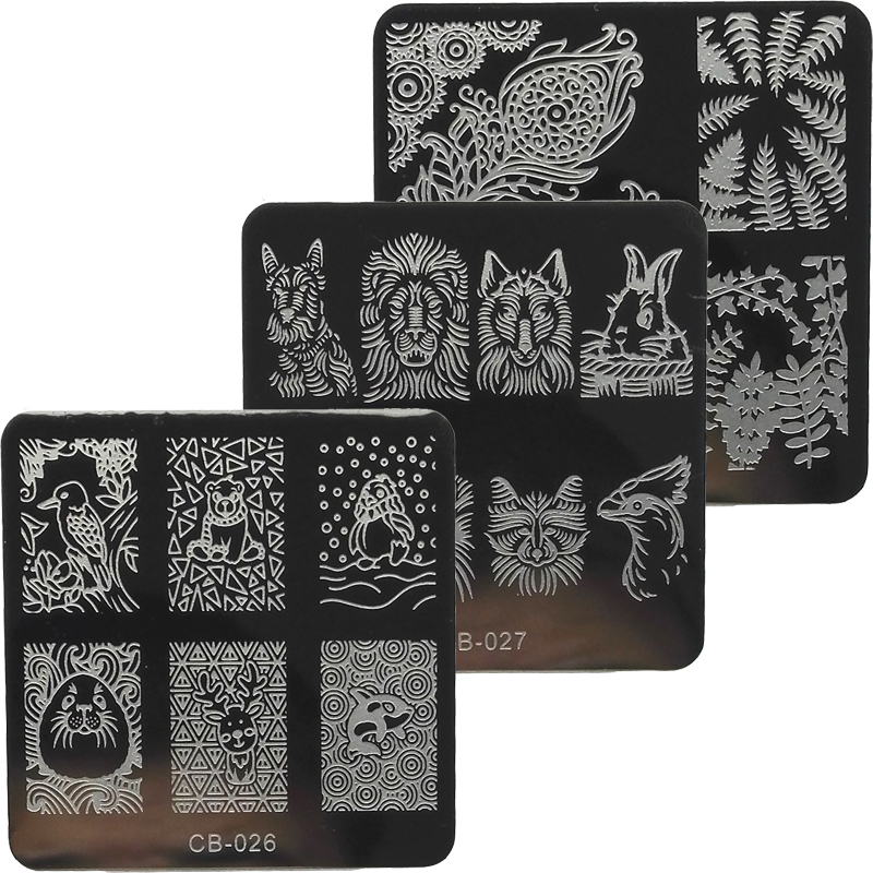 Nueva Llegada 1 Unids 6 cm Moda Clavo Que Estampa Las Placas de Imagen Plantilla