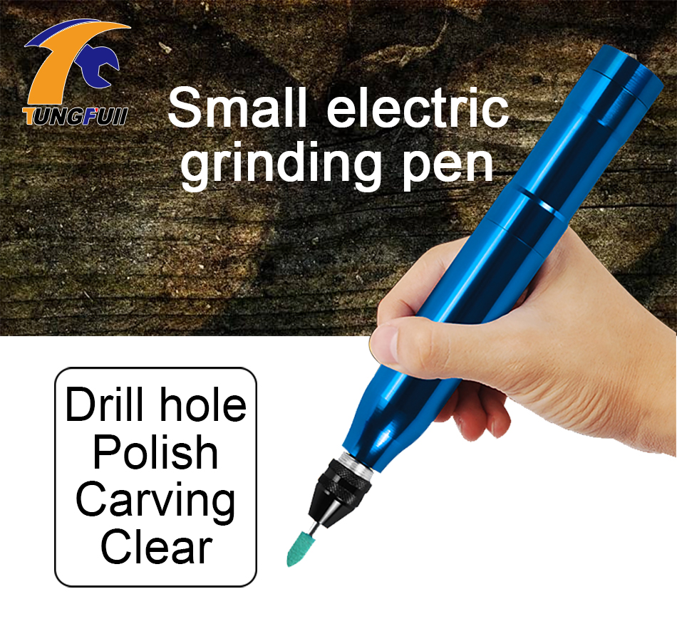 цена на Tungfull Mini Drill Engraving Aluminum Alloy Pen Rotary Tool With Grinding Accessories Set For Dremel Tool Lithium Battery Drill