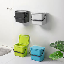 Waste Bin Office Kitchen Bathroom Dustbin Space Saving For Home Wall Mounted Trash Can Dual-use Storage Box(China)
