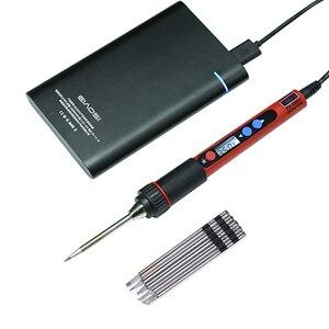 Image 5 - 5V 10W Portable USB Soldering Iron LCD Digital Adjustable Temperature Soldering Gun BAG Welding Rework Repair Tool