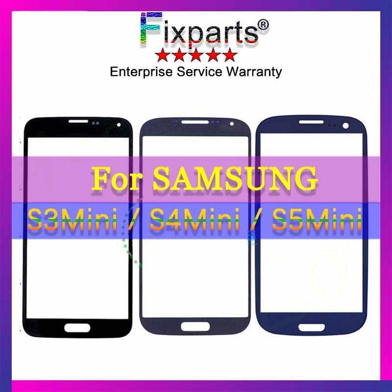 لسامسونج غالاكسي S3 S4 S5 البسيطة i8190 i9190 G900 اللمس شاشة عرض LCD الجبهة الزجاج الخارجي لوحة غطاء للعدسات إصلاح استبدال