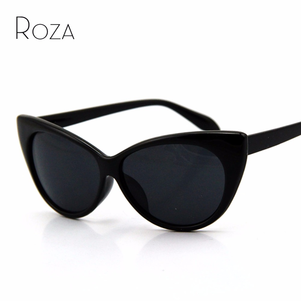 ୧ʕ ʔ୨ROZA Hot Tip Pointed Vintage cat eye sunglasses Women ...
