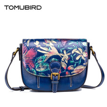 TOMUBIRD new Superior cowhide leather famous brand women bag embossed flowers fashion genuine leather women leather Shoulder bag