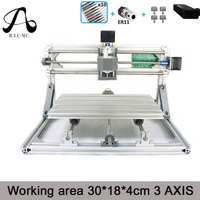 CNC Wood Rounter 3018 GRBL Control Diy Mini CNC Machine Working Area 30x18x4cm 3 Axis Pcb