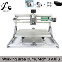 CNC Wood Rounter 3018 GRBL Control Diy Mini CNC Machine Working Area 30x18x4cm 3 Axis Pcb