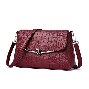 Fashion Women Shoulder Bags Crocodile Pattern Synthetic Leather Crossbody Bag Elegant Ladies Covered Envelope Bags Long Should