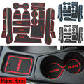 19Pcs Non Slip For Mitsubishi Pajero Sport Accessories Words LOGO In Car Stickers Door Groove Cup Gate Slot Mat Pad Car-Styling