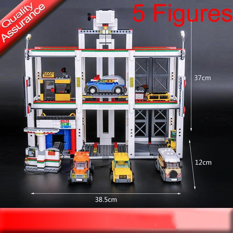 Lepin 02073 City Town Garage Building Blocks Car Model ...
