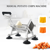 Manual Commercial Cutting Machine Potato Chipper French Fries Processing Kitchen Tools Manual French Fry Cutters     -