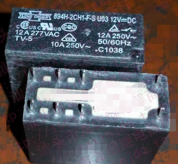 Реле 894H-2CH1-F-S U03 12VDC G2R-2C-12V-12A