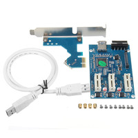 Wholesale 006 USB3 0 3Port 1X To 3X Slot PCI E PCI Expansion Card Adapter USB3