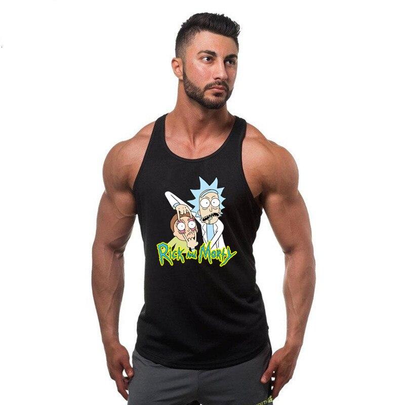 2018 Новый Рик и Морти 3D печати Топы дышащие летние мультфильм печати Для мужчин мышцы рубашка Бодибилдинг жилеты костюмы