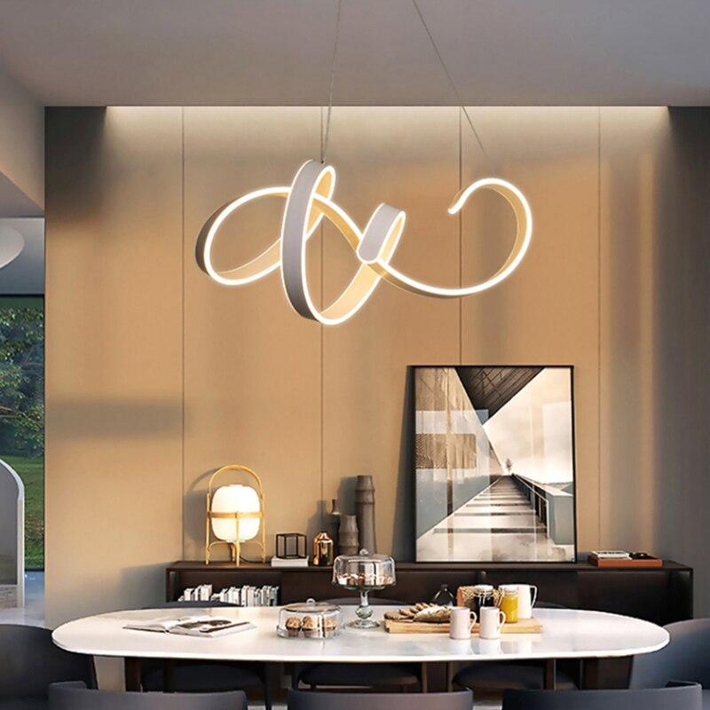 Modern led Pendant Light for Kitchen Dining Room Living Room Suspension luminaire Hanging White Color Pendant