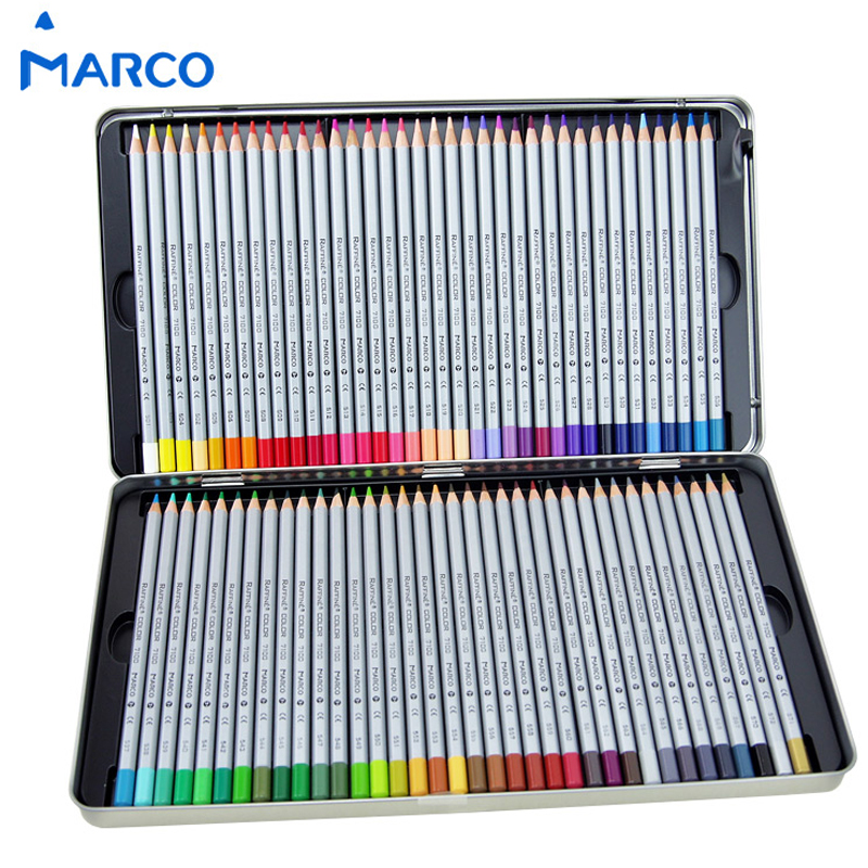 Marco Raffine Fine Art Oil Colored Pencil 24 /36/ 48/ 72 Colors Lapis De Cor Drawing Painting Sketches Tin Box School Supplies marco raffine fine art colored pencils 24 36 48 colors drawing sketches mitsubishi colour pencil for school supplies