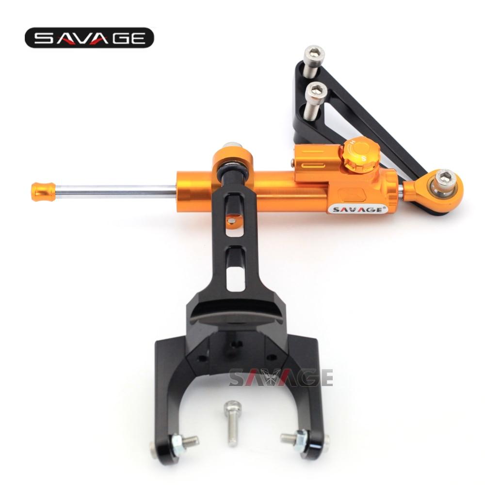 For HONDA CB 1300 CB1300 1999 2016 Motorcycle Steering Damper Stabilizer Adjustable Linear with Bracket Kit