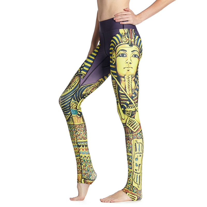 Egyptian Statue Print Fitness Leggings Sport Women Yoga
