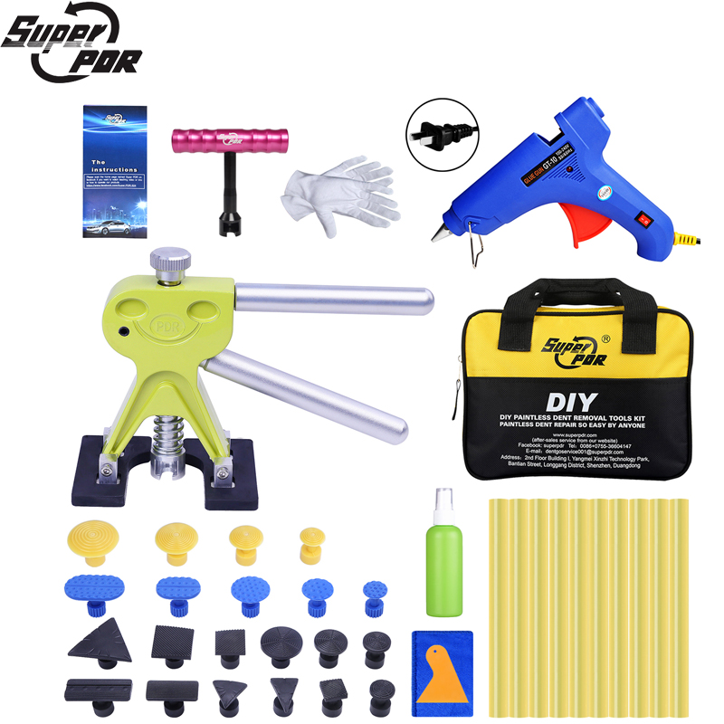 Super PDR Auto Dent Pullers Suction Cup Paintless Dent Removal Tool Kit For Car Tools Bag Hot Adhesive Glue Sticks For Glue Guns