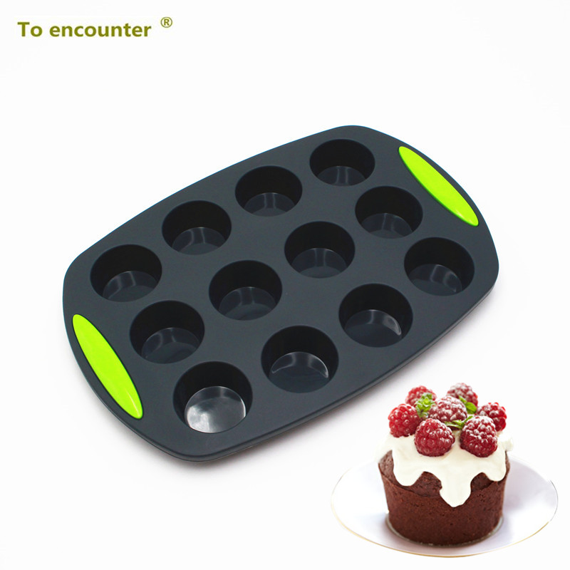 To Encounter 30*20.8*2.8CM Round Cup Cake Molds Silicone Chocolate Mold Jelly Pans Pastry Silicone Cake Mold Baking Tools Sets