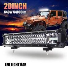 1pcs 540W 90 LED Car Light Lamps For Cars Auto Fog Headlight Bulbs IP68 Waterproof 6000K Work Source