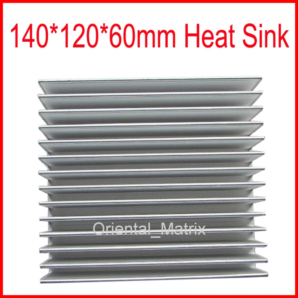 Free Shipping HeatSink Heat Sink Radiator 140*120*60mm Small Radiator - Silver hot cinderella princess castle city model building block kid educational brick toy for compatible lepins christmas children gift