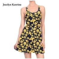 Jocelyn Katrina Sports Tennis Dress Badminton Sportswear Summer Sexy Slim Evening Dresses Reversible One Piece Party