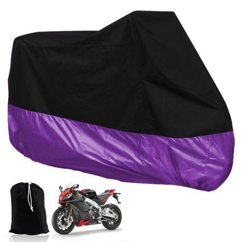 EDFY HOUSSE BACHE MOTO Couvre-Moto velo VTT scooter Taille XL 245cm violet noir protection