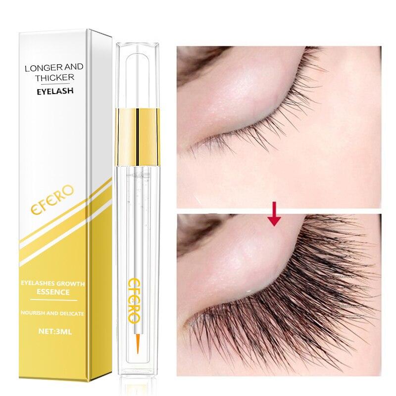 EFERO 1pc Eyelashes Enhancer Fuller Thicker for Eyelash Growth Essence Oil Natural Eyelash Extension Longer Eyelash Serum
