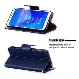 Image 5 - Y5(2019) fall Leder Flip Fall auf für Huawei Y5 2019 Coque Brieftasche Magnetische Abdeckung für Huawei Y5 2019 Y 5 Prime 2018 Y5P Fällen