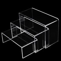 3 Pieces Set Clear Acrylic Shoe Display Rack Jewelry Showcase Display Stand Holder, Acrylic Shoe Stand Slanted