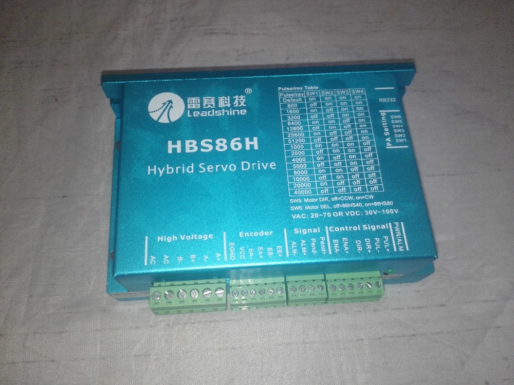 NEW Leadshine HBS86H 2-phase Hybrid Servo Drive 20-70VAC or 30-90VDC, 8.2A Peak CNC DSP Closed-Loop Stepper Driver yako stepper servo drive ssd2608h voltage dc30 110v ac20 80v modular hybrid closed loop stepper driver 3000r min