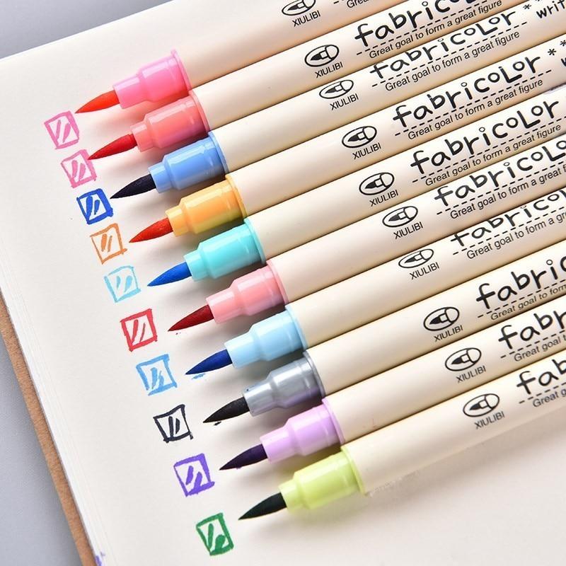 10 цветов, Цветная кисть для письма, ручка, краска для каллиграфии, маркерные ручки, набор для рисования, акварельная художественная кисть, ру...