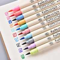 10 Color Fabricolor Write Brush Pen Calligraphy Paint Marker Pens Set Drawing Painting Watercolor Art Brush Pen 04429
