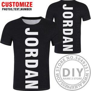 Image 2 - JORDAN t gömlek diy ücretsiz custom made adı numarası jor t shirt ulusal bayrak ülke Hashemite Krallık koleji baskı fotoğraf jo giysileri
