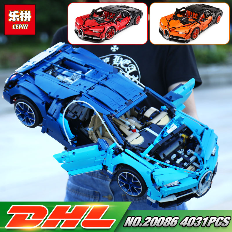DHL Lepin 20086 Technic Toys Compatible with 42083 Blue Racing Car Set Building Blocks Bricks Kids Toys Car Model Christmas Gift lepin 21004 ferrarie f40 sports car model legoing building blocks kits bricks toys compatible with 10248