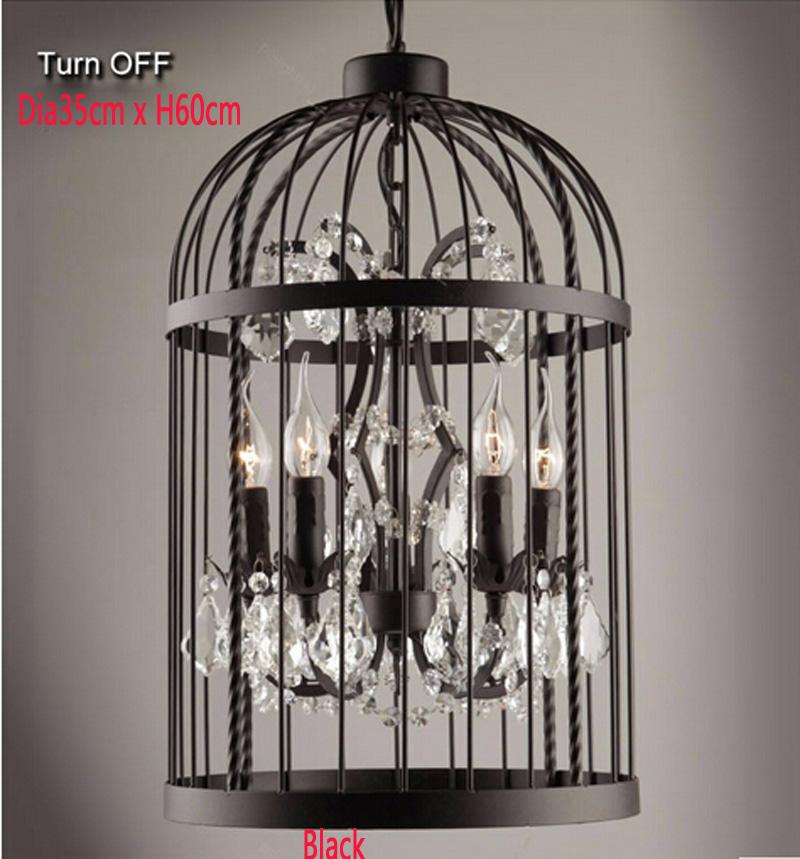 Retro-Lamparas-Black-Decor-American-Vintage-Industrial-Bird-Cage-Pendant-Light-With-Crystal-Ornaments-Nordic-Birdcage113