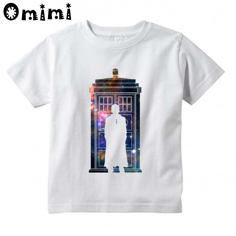 Boys/Girls Doctor Who Printed T Shirt Kids Short Sleeve Tops Baby Childrens Funny White T-Shirt,HKP2068
