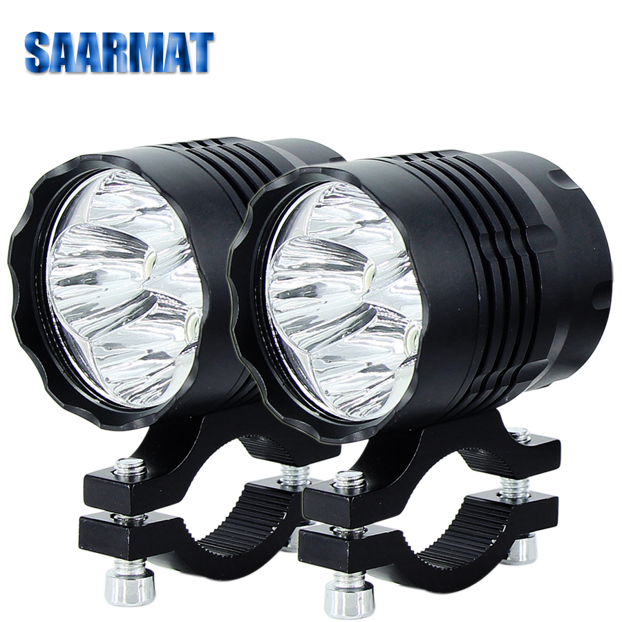 Motorcycle LED Spot Light Headlight Ourbest Cree U5 Auxiliary Driving Front LED Fog Lights Universal Work For ATV Truck 12v 24v High Low Beam Strobe With Switch