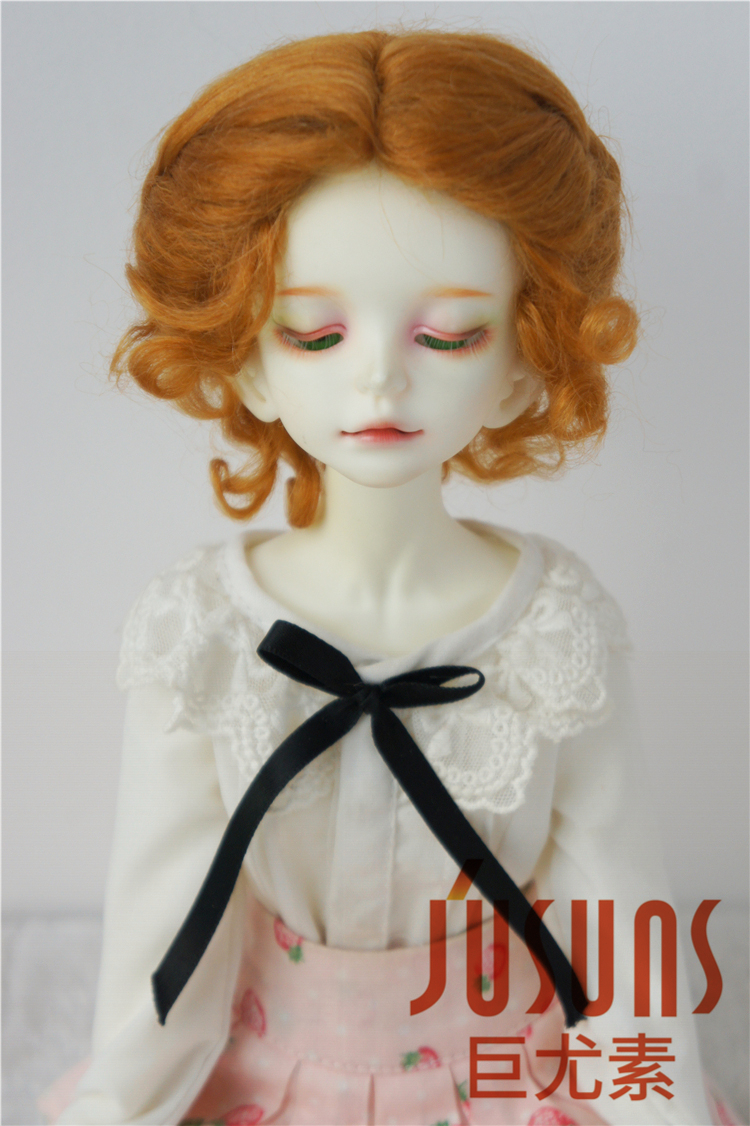 JD089  MSD Classic twist  doll wig 1/4  Mohair wigs for Collection Porcelain doll 7-8inch BJD hair 1 3 1 4 1 6 1 8 1 12 bjd wigs fashion light gray fur wig bjd sd short wig for diy dollfie