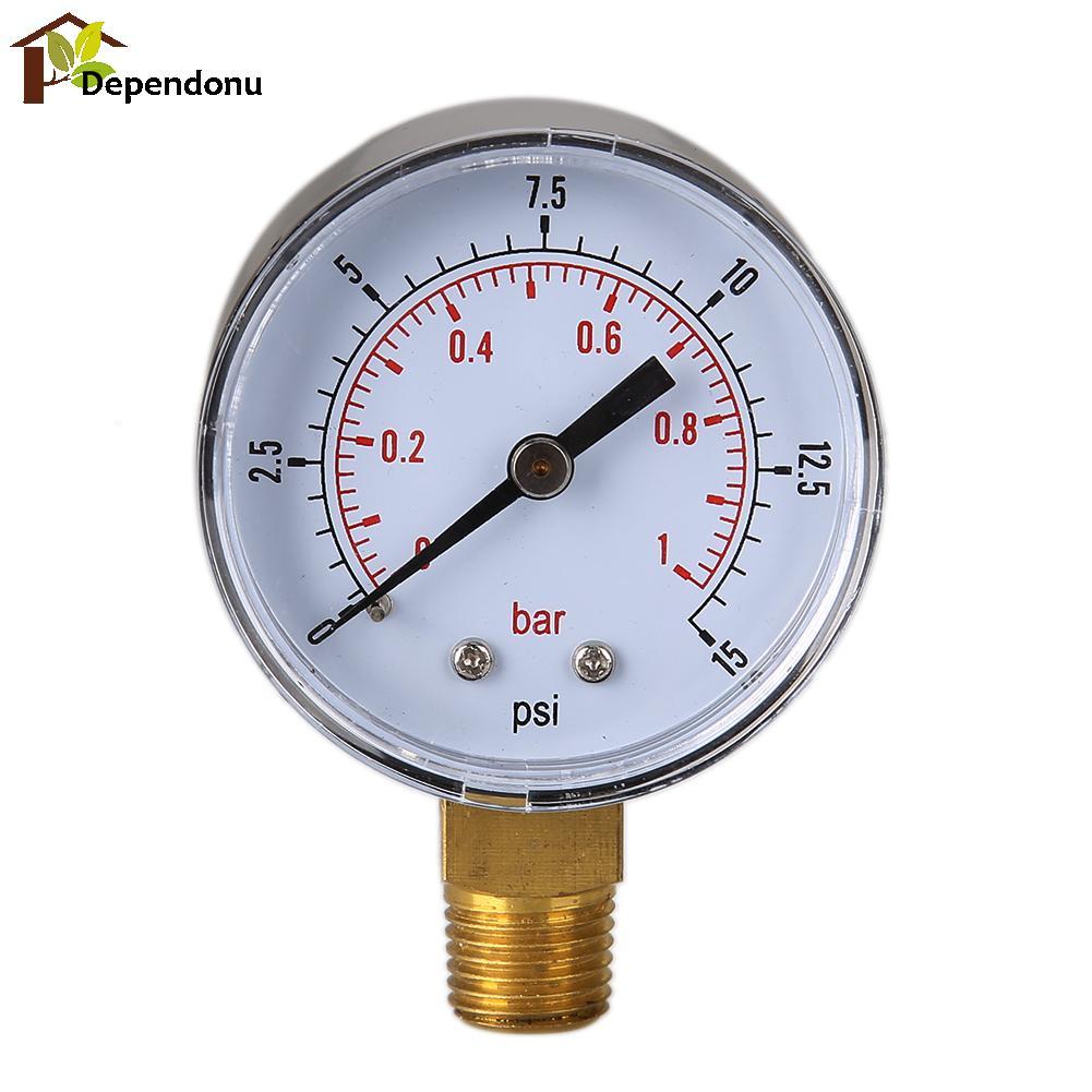 buy 0 15 psi 0 1 bar pressure gauge fuel air compressor meter hydraulic. Black Bedroom Furniture Sets. Home Design Ideas